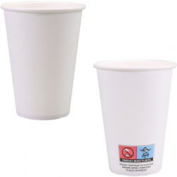 Koffiebekers papier wit 180 cc